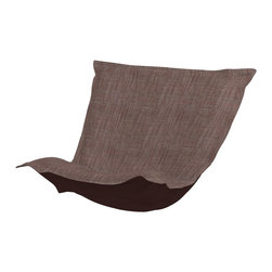 Howard Elliott - Coco Slate Puff Chair Cushion - Fashionista! Extra Puff Cushions in Coco are a great way to get a new look without the expense of buying a whole new chair! Puff Cushions fit scroll & rocker frames. Let the sophisticated color and texture of the Coco Puff Cushions make your decor simply striking!