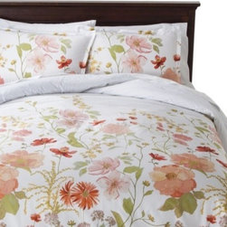 Threshold Multi Floral Comforter Set - Sleep tight in these pretty floral sheets. They're perfect for the passionate flower lover.