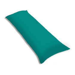 "SheetWorld - SheetWorld Butter Soft 100% Cotton Jersey Knit Body Pillow Case - Solid Teal - SheetWorld makes the softest and most plush 100% cotton jersey knit body pillow cases on the market. The cotton t-shirt like jersey knit _ will greatly enhance the comfort and feel of the pillow, helping to give you a restful night sleep. These pillow cases are designed with a zipper along side the length of the pillow to easily put on and remove. There are over28 beautiful solid colors available in the same high quality fabric to complement almost any decor. Measures 20"" x 54"". Machine Washable and tumble dry medium. Proudly made in the USA!"