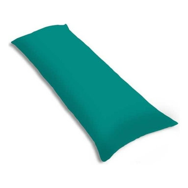 """SheetWorld - SheetWorld Butter Soft 100% Cotton Jersey Knit Body Pillow Case - Solid Teal - SheetWorld makes the softest and most plush 100% cotton jersey knit body pillow cases on the market. The cotton t-shirt like jersey knit _ will greatly enhance the comfort and feel of the pillow, helping to give you a restful night sleep. These pillow cases are designed with a zipper along side the length of the pillow to easily put on and remove. There are over28 beautiful solid colors available in the same high quality fabric to complement almost any decor. Measures 20"""" x 54"""". Machine Washable and tumble dry medium. Proudly made in the USA!"""