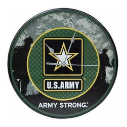 "Westland - 12 Inch United States ""Army Strong"" Analog Wall Clock, Green - This gorgeous 12 Inch United States ""Army Strong"" Analog Wall Clock, Green has the finest details and highest quality you will find anywhere! 12 Inch United States ""Army Strong"" Analog Wall Clock, Green is truly remarkable."