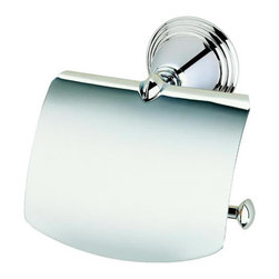 Geesa - Chrome Toilet Roll Holder With Cover - Toilet roll holder with cover. Chrome plated brass. High quality chrome toilet roll holder. Contemporary toilet paper holder. For contemporary settings. From the Geesa Montana Classic Collection collection. Made in and imported from Netherlands.