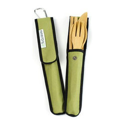 To-Go Ware - To-Go Ware Bamboo Utensil Set, Avocado - With this handy little green sleeve, you can make every meal that you and your family eats on the go as green as the carrying case! The To-Go Ware Bamboo Utensil Set in Avocado is the perfect alternative to plastic silverware.