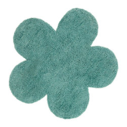 "Loloi Rugs - Loloi Rugs Sophie Collection - Teal, 2'-8"" x 2'-8"" Flower - Make a big statement in small spaces with the Skylar Collection. Hooked in India of 100% wool, the designs bring colorful, bold attitude perfect for entry ways, bathrooms, and kid's rooms.�"