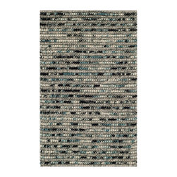 """Safavieh - Julian Textured Rug, Grey / Multi 2'6"""" X 4' - Construction Method: Hand Woven. Country of Origin: India. Care Instructions: Vacuum Regularly To Prevent Dust And Crumbs From Settling Into The Roots Of The Fibers. Avoid Direct And Continuous Exposure To Sunlight. Use Rug Protectors Under The Legs Of Heavy Furniture To Avoid Flattening Piles. Do Not Pull Loose Ends; Clip Them With Scissors To Remove. Turn Carpet Occasionally To Equalize Wear. Remove Spills Immediately. Safavieh's Bohemian Collection is all-organic, with exquisitely fine jute pile woven onto a cotton warp and weft, and an earthy natural color palette. The high quality jute chosen for our Bohemian rugs is biodegradable and recyclable, with an innate sheen because it is harvested only from Cannabis Sativa (commonly known as the """"true hemp"""" plant), a quickly renewable resource that excels in length, durability, anti-mildew and antimicrobial properties. Safavieh brings fashion excitement to the eco-friendly rug category with the Bohemian collection's unique patterns, ribbed textures and remarkable hand. The rugs are washed to soften the yarn, and then brushed to an even more lustrous sheen. Hand Knotted in India."""