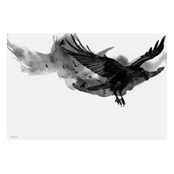 """Maxwell Dickson - Maxwell Dickson """"The Ravens"""" Art Canvas Print Wall Pop Art Bird Artwork - We use museum grade archival canvas and ink that is resistant to fading and scratches. All artwork is designed and manufactured at our studio in Downtown, Los Angeles and comes stretched on 1.5 inch stretcher bars. Archival quality canvas print will last over 150 years without fading. Canvas reproduction comes in different sizes. Gallery-wrapped style: the entire print is wrapped around 1.5 inch thick wooden frame. We use the highest quality pine wood available."""
