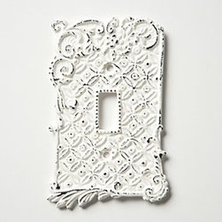 Anthropologie - Tin Roof Switchplates, Single - Hardware requiredIronImported