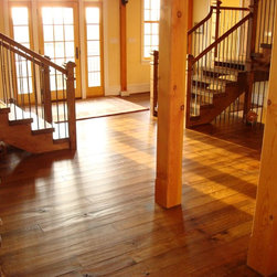 White Oak Floors - Live Sawn - Allegheny's Live Sawn White Oak is an exclusive floor that creates a stunning hardwood floor while minimizing the amount of waste created in the process.