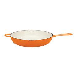 "Dansk - Dansk Mario Batali by 14"" Persimmon Open Saute - This open saute pan by chef Mario Batali is a versatile one. It heats up fast,retains heat and eliminates hot spots that burn foods."