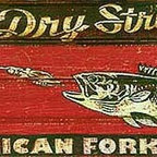 Red Horse Signs - Vintage Signs Large Foss Lure Retro Wood Advertising Sign - Create  a  one-of-a-kind  sign  for  your  fishing  lodge  or  lake  house  by  personalizing  the  name  of  the  bait  on  the  top  of  the  sign  and  the  name  of  the  company  on  the  bottom  of  the  sign.  This  vintage  looking  sign  is  actually  printed  directly  to  distressed  wood  for  a  worn  weathered  appearance.  Measuring  14  x  42  it  is  sure  to  create  a  stir  at  your  favorite  fishing  hole!