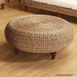 Padmas Plantation Tropical Ottoman - I am always looking for natural textures to bring into my rooms. This ottoman has plenty of texture.