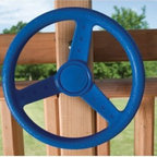 Kids Creations Blue Steering Wheel - Let your child's imagination run wild with the Kids Creations Blue Steering Wheel. Watch as they become a captain of a pirate ship or save the universe from aliens, all with a smile on their face. This sturdy steering wheel is made from quality polyethylene and comes with a three-year manufacturer's warranty. The mounting hardware, cover and cap are all included, so bring home a fun addition to the swing set and see what new adventure your child begins today.