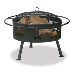 Blue Rhino - Bronze 22-inch Firebowl - This firebowl provides 360 degrees of warmth and view for family and friendly gatherings. The aged bronze with leaf design provides wonderful atmosphere for chilly nights.