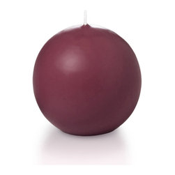 """Neo-Image Candlelight Ltd - Set of 6 - Yummi 2.8"""" Raspberry Sphere Candles - Our unscented 2.8"""" Sphere Candles are ideal when creating a beautiful candlelight arrangement for the home or wedding decor.  Available in 44 trendy candle colors hand over dipped with white core to match and compliment your home decor or wedding centerpiece decoration."""