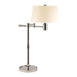 Hudson Valley Lighting - Hudson Valley Lighting L524-PN Table Lamp in Polished Nickel - Hudson Valley Lighting L524-PN Lindale Collection Modern Table Lamp in Polished Nickel