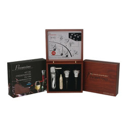 Preservino - Preservino Preservation Kit (Platinum) - 100% argon technology to preserve & lock in freshness of open bottles of wine. Stylish dispenser. GT wine stopper features pour through stopper. Click-n-pour technology . Easy to use. GT features a high-end chromed finish for a beautiful presentation on the wine bottle. Unique design to save up to 67% in argon usage. Includes argon dispenser, argon gas cartridge & GT Professional wine stopper. PlatinumWhether a wine aficionado, connoisseur, hobbyist or one who relishes a glass with dinner, the Preservino Preservation Kit will help to extend the life of an open bottle of wine. Its argon technology helps prevent wine from oxidizing. This kit includes a stylish dispenser and pour-through stoppers, which feature a high-end chrome finish for a beautiful, high-class look.