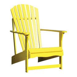 International Concepts - International Concepts C-51903 Adirondack Chair - Yellow - Adirondack Chair - Yellow by International Concepts Chair (1)