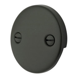 Kingston Brass - Trip Lever 2 Hole Round Plate - Decorate your bathroom with the smooth circular two-hole round plate. Its strong constitution of our oil-rubbed bronze finish will give you long-lasting satisfaction.