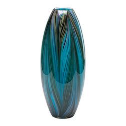 Cyan Design - Cyan Design Lighting 02920 Peacock Feather Vase - Cyan Design 02920 Peacock Feather Vase