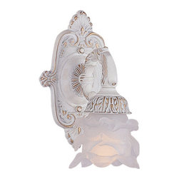 Crystorama - Crystorama 5221-AW Paris Flea Market 1 Light Wall Sconces in Antique White - Paris Flea Market offers casual yet elegant, whimsical and chic chandeliers, wall sconces, and ceiling mounts.