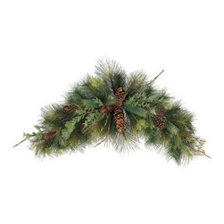 Silk Plants Direct - Silk Plants Direct Pine Cone, Pine and Twig Swag (Pack of 2) - Pack of 2. Silk Plants Direct specializes in manufacturing, design and supply of the most life-like, premium quality artificial plants, trees, flowers, arrangements, topiaries and containers for home, office and commercial use. Our Pine Cone, Pine and Twig Swag includes the following:
