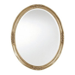 Uttermost - Newport Oval Beveled Mirror - Uttermost 08565 B Newport Oval Silver MirrorOval mirror features a frame with an antique silver leaf finish and heavy gray glaze. Mirror is beveled.Features: