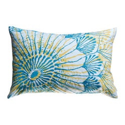 Embroidered Water Pillow, Sea Fan