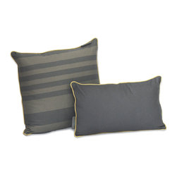 ez living home - Tonal Stripe Dec Pillow, Grey - *New classic tonal stripe pattern creates a chic but soothing effect; Complements existing room decoration.