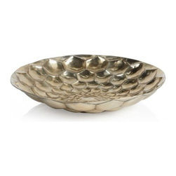 Z Gallerie - Kronus Bowl - With a honeycombed surface displaying geometric indentations in a stunning display of texture, our Kronus Bowl is grandiose in every sense of the word. Each of the multi-facets intentionally reflects every glimmer of light, offer a stunning display onto the surrounding space. Taking the shape of a decorative sculptural piece, our Kronus Bowl exudes the qualities of a stand-alone display piece. Pair with our coordinating Kronus disc vase and Sconce for triple the impact. Exclusive to Z Gallerie. For decorative use only.