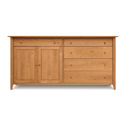 Copeland Furniture - Copeland Furniture Sarah 4 Drawer On Right, 1 Drawer Over 2 Doors On Left Buffet - The Sarah Dining Room exhibits the clean lines and balanced proportions of its Shaker influence. All pieces are made of solid cherry hardwood.