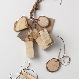 Tree Bark Gift Tag Set - Go for a rustic theme with your gift wrapping by adding one of these reclaimed wood tags to presents.