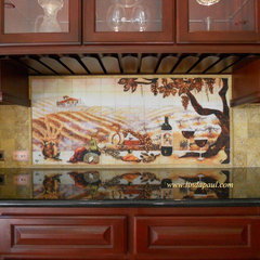 traditional kitchen tile by Linda Paul