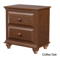 Lang Furniture - Nightstand with 2 Drawers - An excellent place to store your bedtime reading material or glasses,this traditional two-drawer nightstand will provide a finishing touch to your decor. The small size makes it ideal for tight spaces,and it comes in a variety of colors.