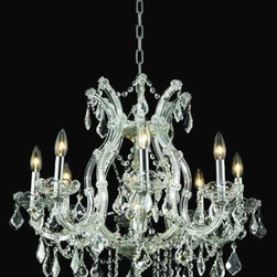 9 lights chrome plated maria theresa chandelier -