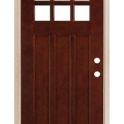 Legacy Doors M-43 Square Top Prefinished Mahogany Door - While the benefits of fiberglass and steel doors can't be beat, nothing can match the beauty of a solid wood door. Home Depot's Legacy Doors Pro Series provides affordable options of solid wood doors made from select hardwoods. This beautiful left-swing mahogany door comes pre-finished and pre-hung. Specially engineered stiles and rales prevent warping and splitting, while insulated safety glass and weather stripped jambs improve its energy efficiency.