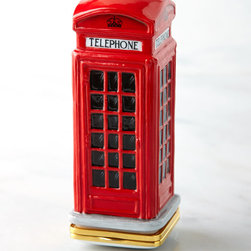 """Halcyon Days Enamels - Telephone Box Bonbonniere - RED - Halcyon Days EnamelsTelephone Box BonbonniereDetailsHand-painted fine bone china.Approximately 1.5""""W x 1.75""""D x 3.625""""T.Made in England.Designer About Halcyon Days Enamels:The Halcyon Days shop opened in London's Mayfair in 1950 and its Halcyon Days Enamels debuted 20 years later singlehandedly reviving the nearly lost English art of enameling on copper. Halcyon Days Enamels keepsake boxes featuring hand enameling and hand painting are prized by collectors worldwide as modern heirlooms."""