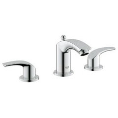 Grohe 20 294 Eurosmart Bathroom Faucet Three Hole Double Handle Widespread