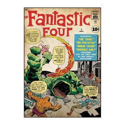 York Wallcoverings Inc - Comic Book Cover- Fantastic Four Wall Decal- 24W x 34.25H in. Multicolor - RMK16 - Shop for Stickers from Hayneedle.com! About Roommates: Roommates a subsidiary of York Wallcoverings Inc creates some of the most versatile and unique wall decor you'll find. Their innovative wall decals feature a removable and endlessly reusable design allowing you to move and rearrange your decals as often as you like all without causing any damage to your walls or furnishings. This means you can apply them without worry or headache since you don't have to get the application perfect the first time. RoomMates work on any smooth surface and are particularly ideal for temporary decorating such as around the holidays. All RoomMates products are proudly made in the USA and are made from non-toxic materials so they're as safe for your kids and pets as they are for your walls.Please note this product does not ship to Pennsylvania.