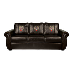 Dreamseat Inc. - Worlds Greatest Grandpa Chesapeake BLACK Leather Sofa - Check out this awesome Sofa. It's the ultimate in traditional styled home leather furniture, and it's one of the coolest things we've ever seen. This is unbelievably comfortable - once you're in it, you won't want to get up. Features a zip-in-zip-out logo panel embroidered with 70,000 stitches. Converts from a solid color to custom-logo furniture in seconds - perfect for a shared or multi-purpose room. Root for several teams? Simply swap the panels out when the seasons change. This is a true statement piece that is perfect for your Man Cave, Game Room, basement or garage.