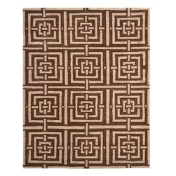 Safavieh - Contemporary Wyndham Square 7' Square Brown Area Rug - The Wyndham area rug Collection offers an affordable assortment of Contemporary stylings. Wyndham features a blend of natural Brown color. Hand Tufted of Wool the Wyndham Collection is an intriguing compliment to any decor.