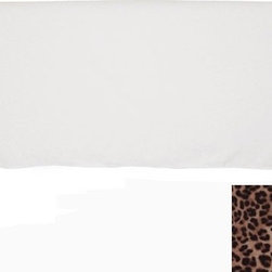 Slipcover Headboard in Velvet Leopard - Now we're talking about Old Hollywood glam: a leopard print headboard! This one is fab because it has a removable leopard print slipcover over a padded headboard.
