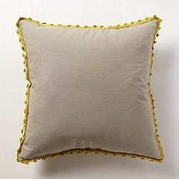 """Anthropologie - Crocheted Poms Pillow - By PehrCotton; down fillMachine wash20"""" squareImported"""