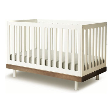 """Oeuf - Classic Crib by Oeuf, Walnut - 3 adjustable mattress positions in US, Canada & Europe; 2 adjustable mattress positions in Australia. Adjustable Legs. Fits a standard 28""""W x 52""""L crib mattress (not included). Mattress must be at least 27.25""""W x 51.625 """"L and 4-6"""" thick. Changing pad is included with station but the cover not included. Assembly required."""