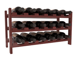 18 Bottle Stackable Wine Rack in Redwood with Cherry Stain + Satin Finish - Expansion to the next level! Stack these 18 bottle kits as high as the ceiling or place a single one on a counter top. Designed with emphasis on function and flexibility, these DIY wine racks are perfect for young collections and expert connoisseurs.