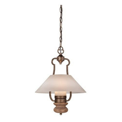 Minka Lavery - Minka Lavery 4208 Abbott Place 1 Light Pendant - Minka Lavery 4208 Abbott Place 1 Light PendantWith a sophisticated approach to classic French designs, Abbot Place blends refinement with casual feel. These clean, architecturally influenced designs combine timeless metalwork with a rich Classic Oak Patina finish and drip candle covers or a Driftwood glass to complete this traditional collection.Minka Lavery 4208 Features: