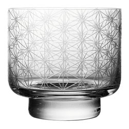 Bomma - Crystal Whiskey Glasses, Set of 2 - Set of 2 - The Stellis 11.8 oz. crystal whiskey glass provides an ample serving while showing off fine design at your special table. Designer Rony Plesl has created a collection of glassware inspired by class Bohemia patterns updated with etching that relies on the latest in glassware manufacturing technology. The geometric patterns of the Stellis collection beckon you to hold the glassware in your hand before enjoying your favorite beverage.