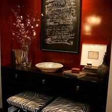 Eclectic Powder Room by Mia Rao Design