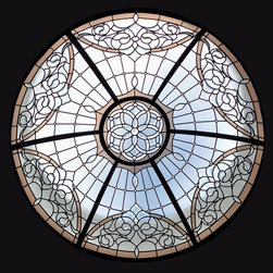 "Leaded Glass Dome - Size 5' x 18"" ht."