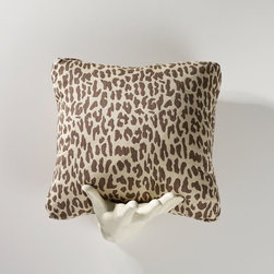 Homeware - Homeware Leapard Print Accent Throw Pillow - Set of 2 - HWP011-18-116LIN - Shop for Pillows from Hayneedle.com! Tres jolie! Classic leopard print gets a fresh light look with Homeware Leopard Print Accent Throw Pillow - Set of 2. Rendered in a luxurious upholstery-weight cotton/poly weave this print presents a subtler more sophisticated take on the ubiquitous print. Available in your choice of size and color. Not available for sale in or delivery to the state of California. About HomewareHomeware is driven by an innovative spirit and a passion to change the way America buys and lives with furniture. Homeware wants to save you from shopping in a big box bringing home a smaller box and ultimately being psychologically harmed by your encounter with a slew of parts and incomprehensible assembly instructions. Instead of that Homeware supports your choice to shop in your jammies and Homeware is determined to support your success. Homeware chairs are made to live and move with you. They come to you in two pieces within two special boxes and regardless how rudimentary your handyman skills may be YOU can assemble them without tools. Within minutes they assure you you will be enjoying a chair that's as sturdy and solid as any you've beheld. The secret? It's designer and engineer Jon Koch's ingenious and revolutionary fastening device which makes possible speedy chair assembly by the mechanically uninitiated. Homeware keeps a stable of furniture savants on call 24-7 to answer your questions including but not limited to questions about their chairs and pillows and they stand behind their products with bravado.