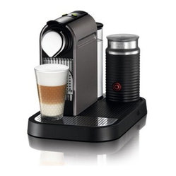 Nespresso C121 CitiZ Frother Espresso Machine with Milk Frother - Titan